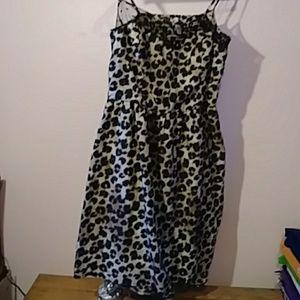 Womens cheeta silky dress